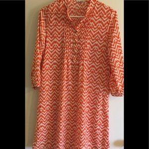 GAP orange dress / swim coverup XS